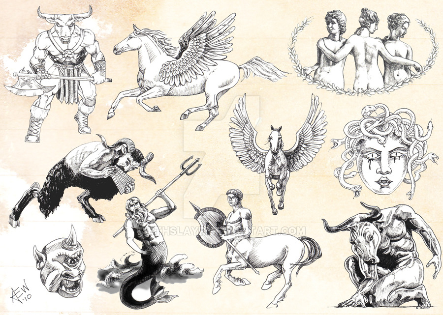 amazing black ink greek tattoo flash by abby. Black Bedroom Furniture Sets. Home Design Ideas