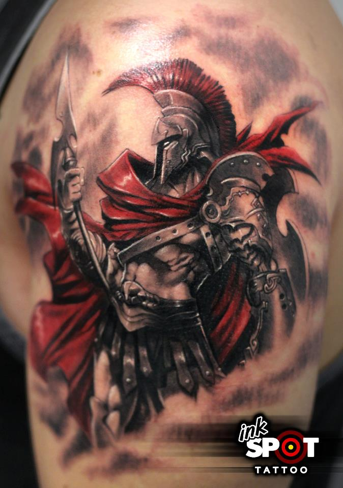 22 Inspirational Greek Tattoo Images, Pictures And Ideas