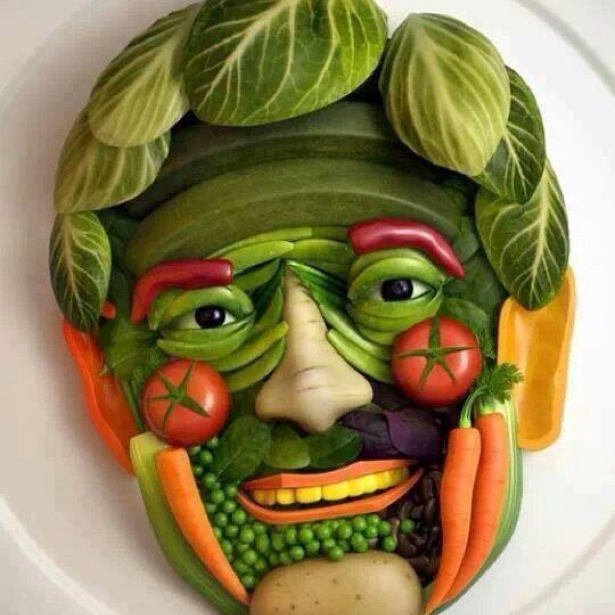 amazing vegetables face funny picture