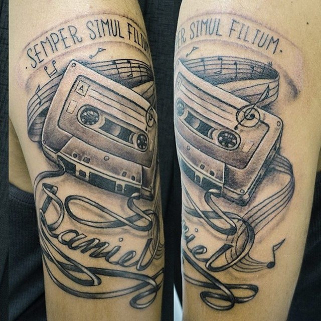 Cassette And Headphones Tattoo: 25 Cassette Tattoo Images, Pictures And Ideas