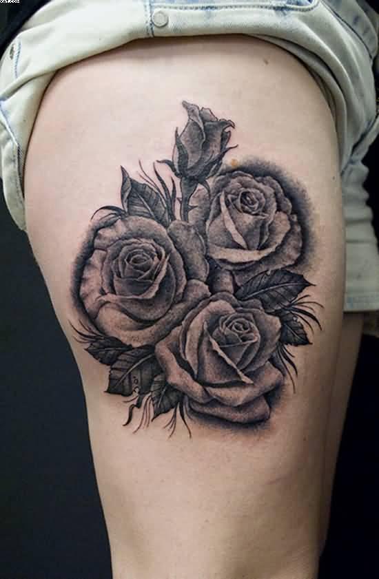 Татуировка черная роза