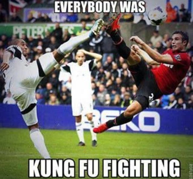 Everybody Was Kung Fu Fighting Funny Soccer Meme
