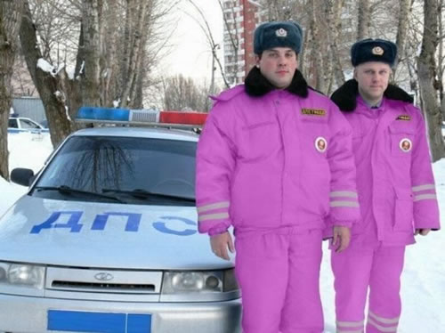 Funny Cops In Pink Dress - photo#32