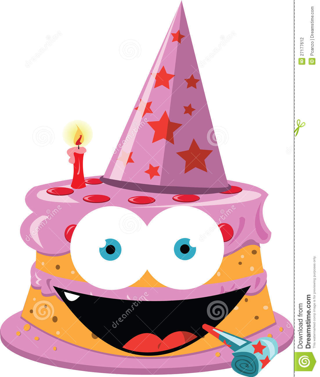 Funny Cartoon Cake Images : Funny Hat Cake Clipart Image