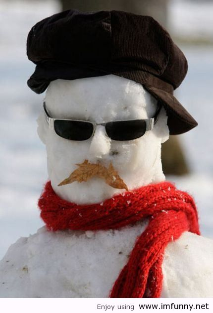 25 most funny snowman pictures and images