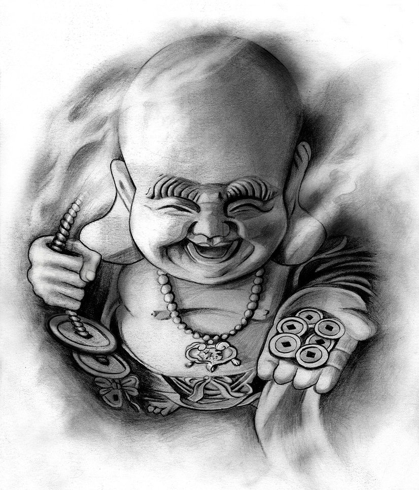 Laughing Buddha Tattoo Design