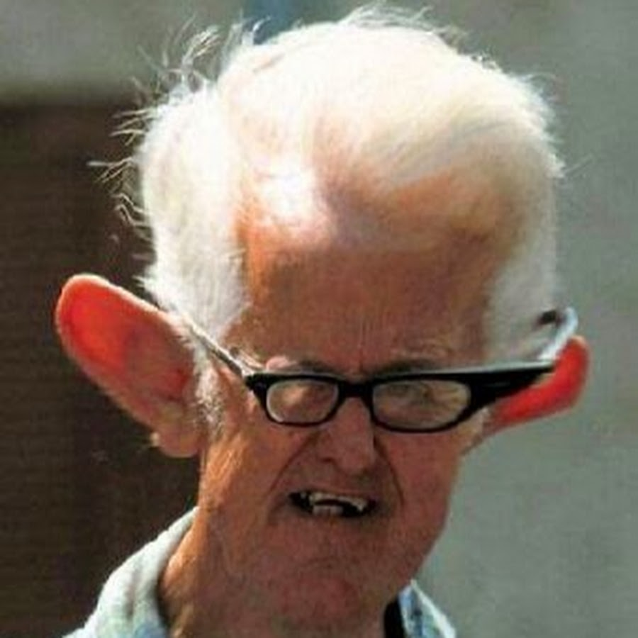 Old Man Funny Ears Picture