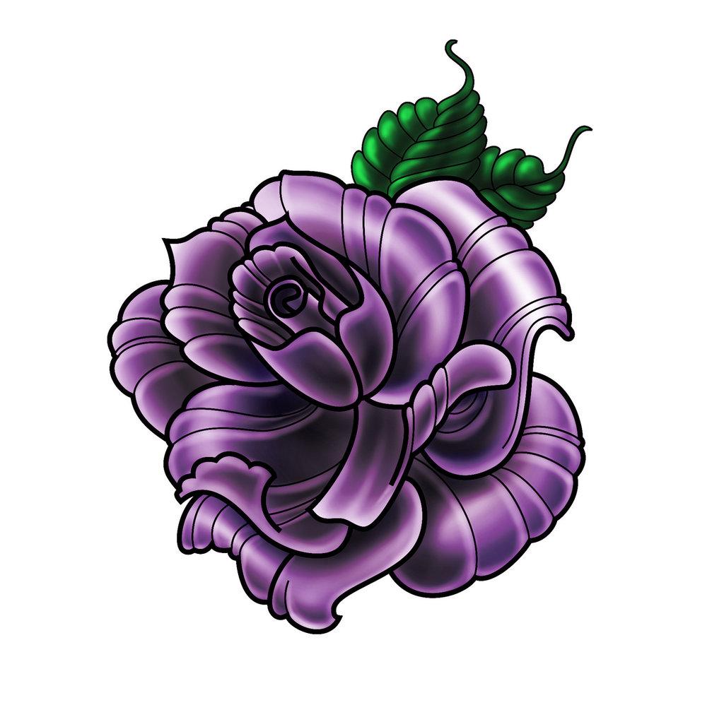 awesome purple rose tattoo on man neck by eva huber. Black Bedroom Furniture Sets. Home Design Ideas