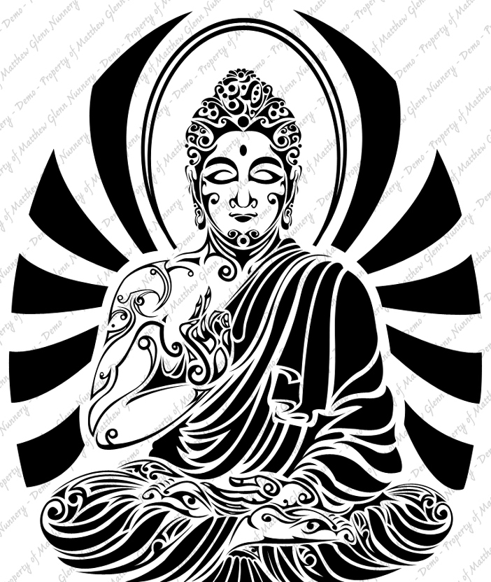 Buddha Face Line Drawing : Awesome tribal buddha tattoo designs