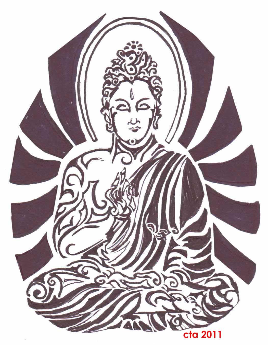 2 Awesome Tribal Buddha Tattoo Designs