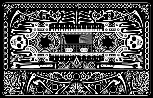 unique black cassette tattoo design by jorden haley. Black Bedroom Furniture Sets. Home Design Ideas
