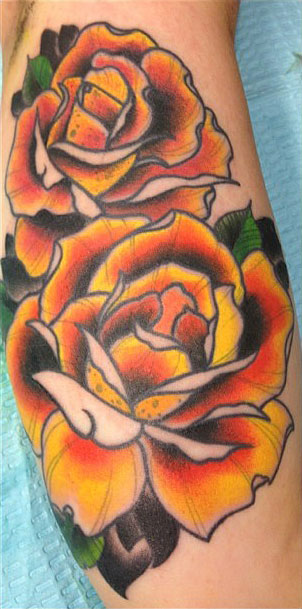 f9cd0e968 4+ Orange Rose Tattoo On Forearm Pictures and Designs