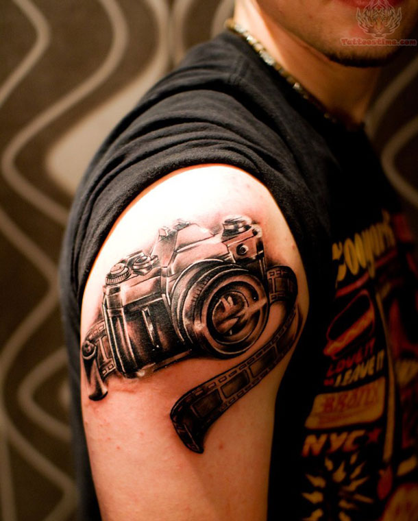 30 Camera Tattoo Images Pictures And Design Ideas