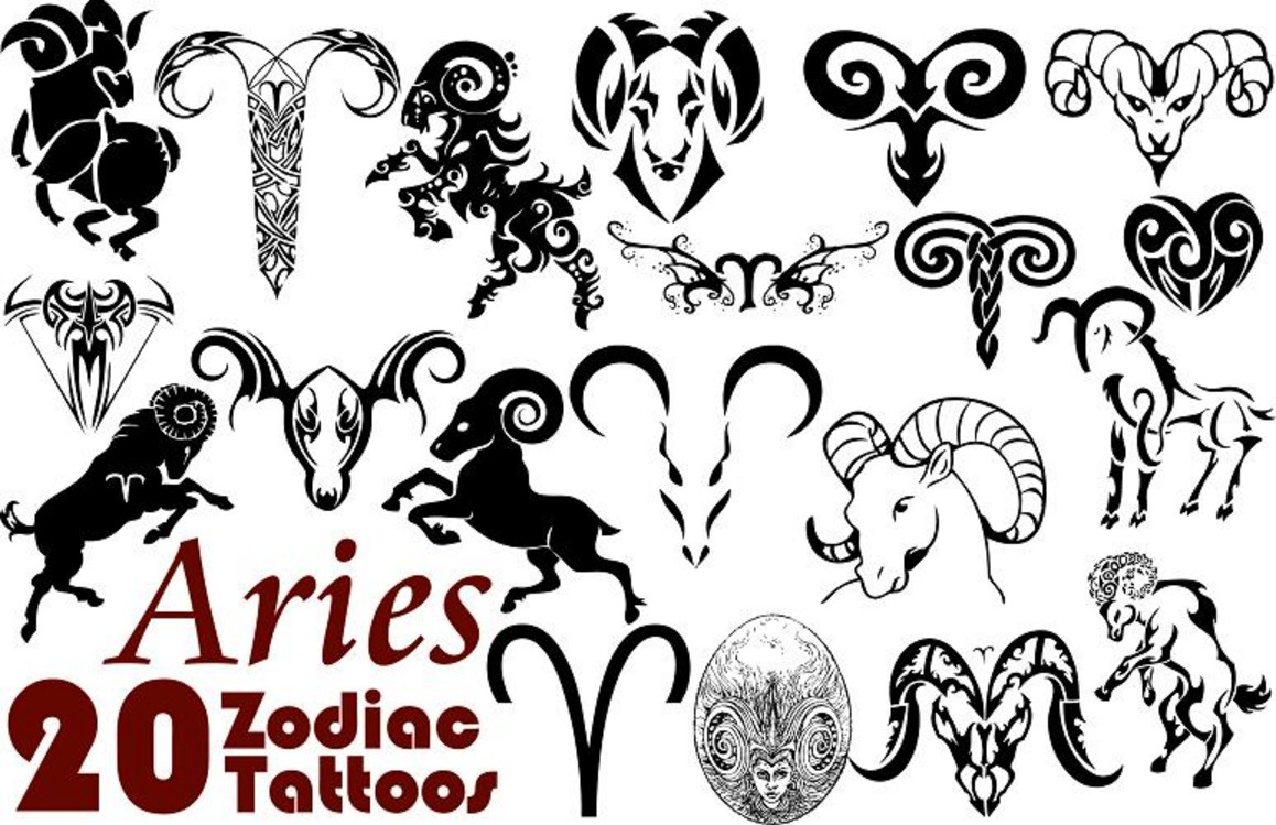 144a01e1649cd Amazing Black Aries Tattoo Flash By Michelle Cobban