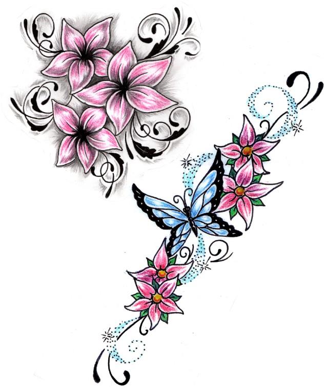 35 flower tattoo design samples and ideas. Black Bedroom Furniture Sets. Home Design Ideas