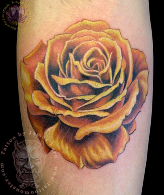 28 Best Yellow Rose Tattoos Yellow Rose With Butterfly Tattoo