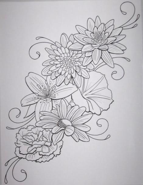 Flower Thigh Tattoo Outline Elegant Arts Tattoo
