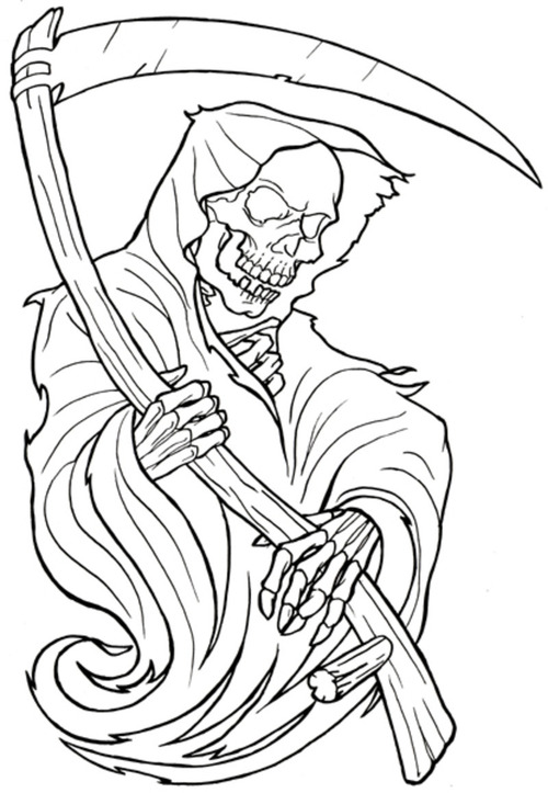 11 Reaper Tattoo Designs And Samples