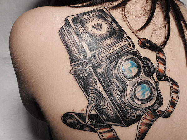 30 camera tattoo images pictures and design ideas. Black Bedroom Furniture Sets. Home Design Ideas