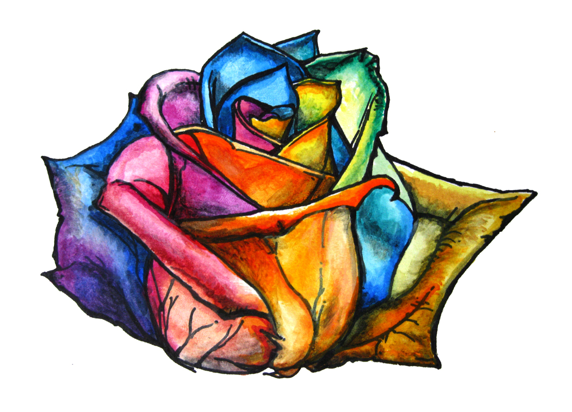 Multi Colored Rose Tattoo Drawings Wwwtopsimagescom