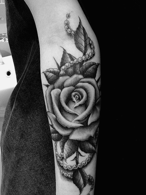 22 awesome white rose tattoo images pictures and design ideas for Black and gray rose tattoos