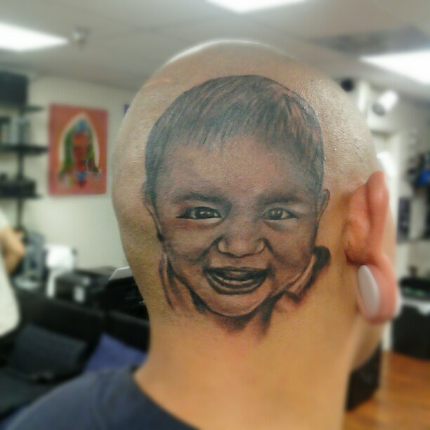 8a66d4afeb7d3 32 Baby Portrait Tattoo Images, Pictures And Design Ideas
