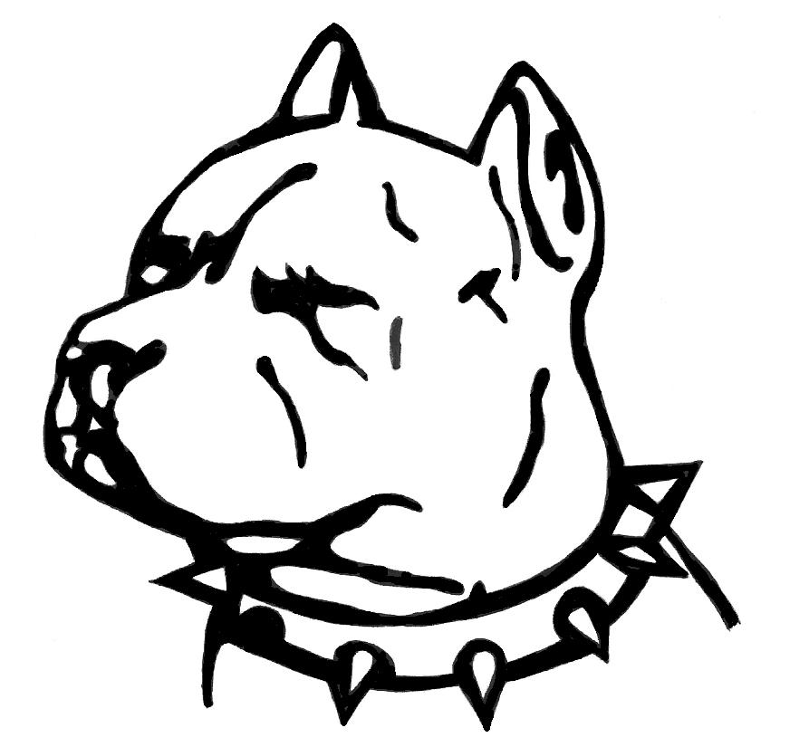 Tribal Pitbull Heads 7 Pit Bull Dog Tattoo Designs And Stencils