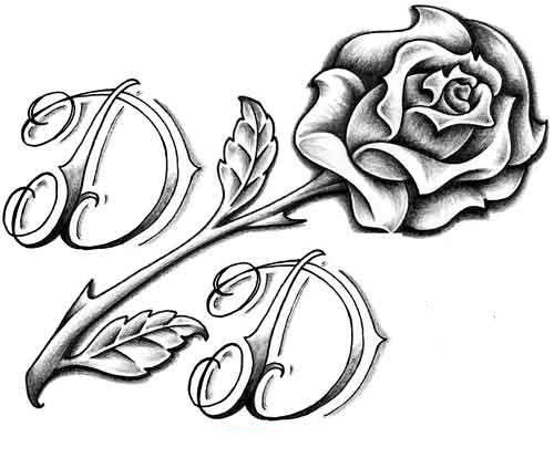 Back gt Gallery For Cool Rose Drawings In Black And White