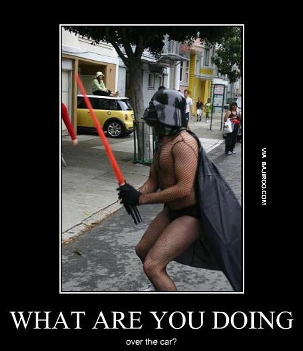 Funny Crazy Man In Batman Costume Funny Poster