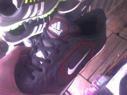 Funny Fake Shoes Picture