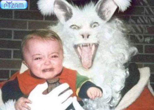 Funny Scared Baby Image