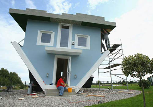 Funny Upside Down Home Picture