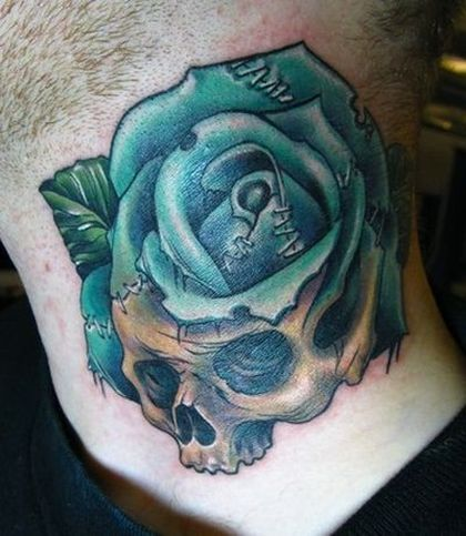 12 Nice Green Rose Tattoo Images, Pictures And Design Ideas