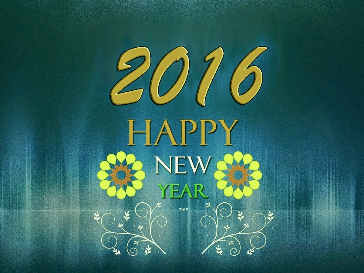 Happy New Year 2016 Beautiful Background HD Wallpaper
