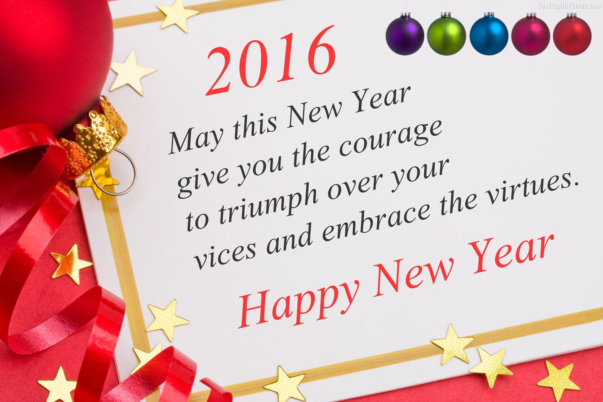 happy new year 2016 may this new year give you the courage to triumph over your