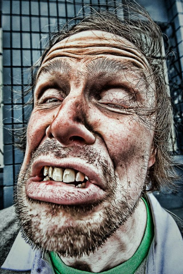 Man Funny Crazy Face