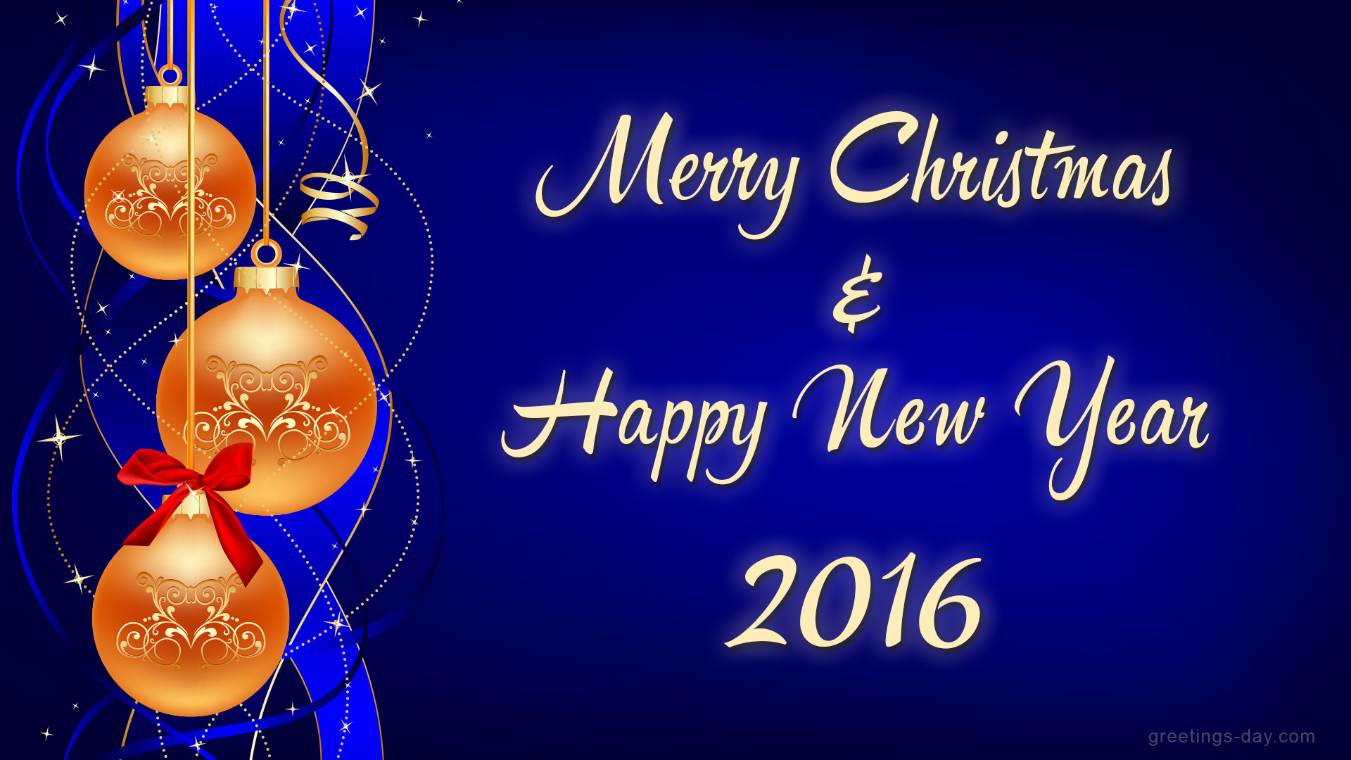 Merry Christmas Happy New Year 2016 Picture