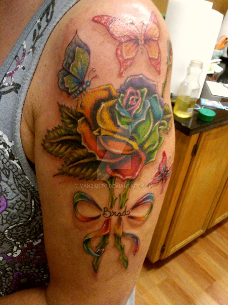 rainbow colored tattoo designs the image kid has it. Black Bedroom Furniture Sets. Home Design Ideas