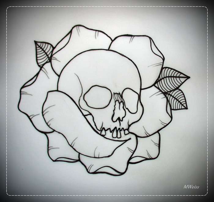 Simple Rose Tattoo Outline: 10 White Rose Tattoo Samples And Design Ideas