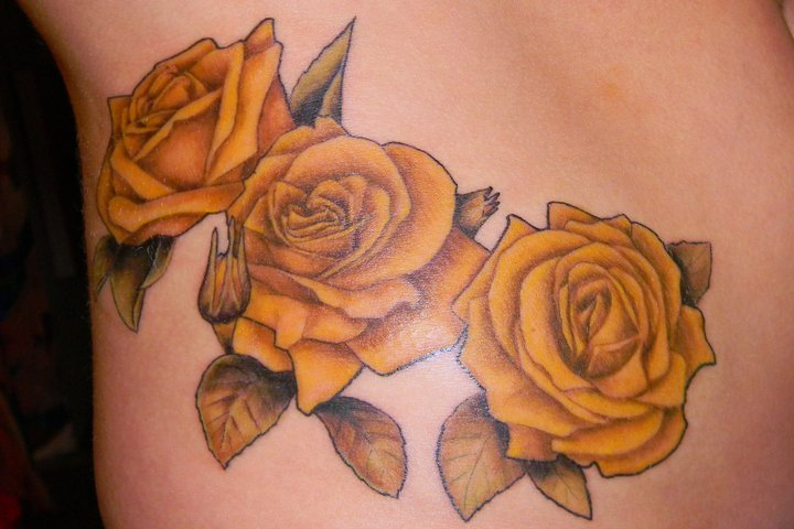 28 best yellow rose tattoos for 3 roses tattoo