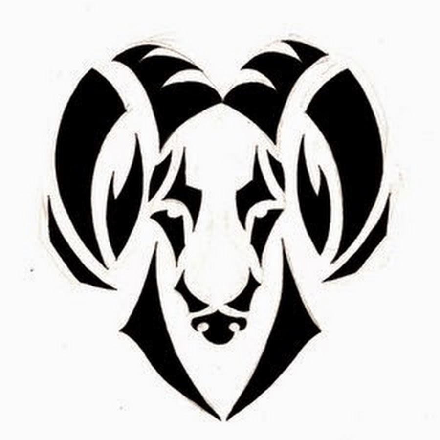 Unique Black Tribal Aries Head Tattoo Stencil By Noomxbass