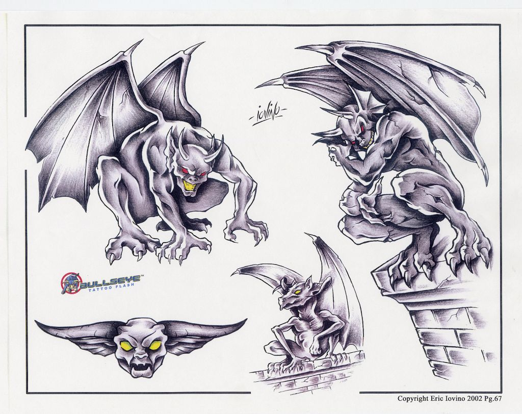 18 fantastic gargoyle sleeve tattoo images and pictures. Black Bedroom Furniture Sets. Home Design Ideas