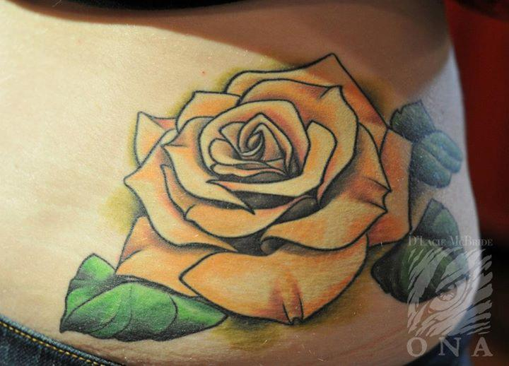 28 Best Yellow Rose Tattoos