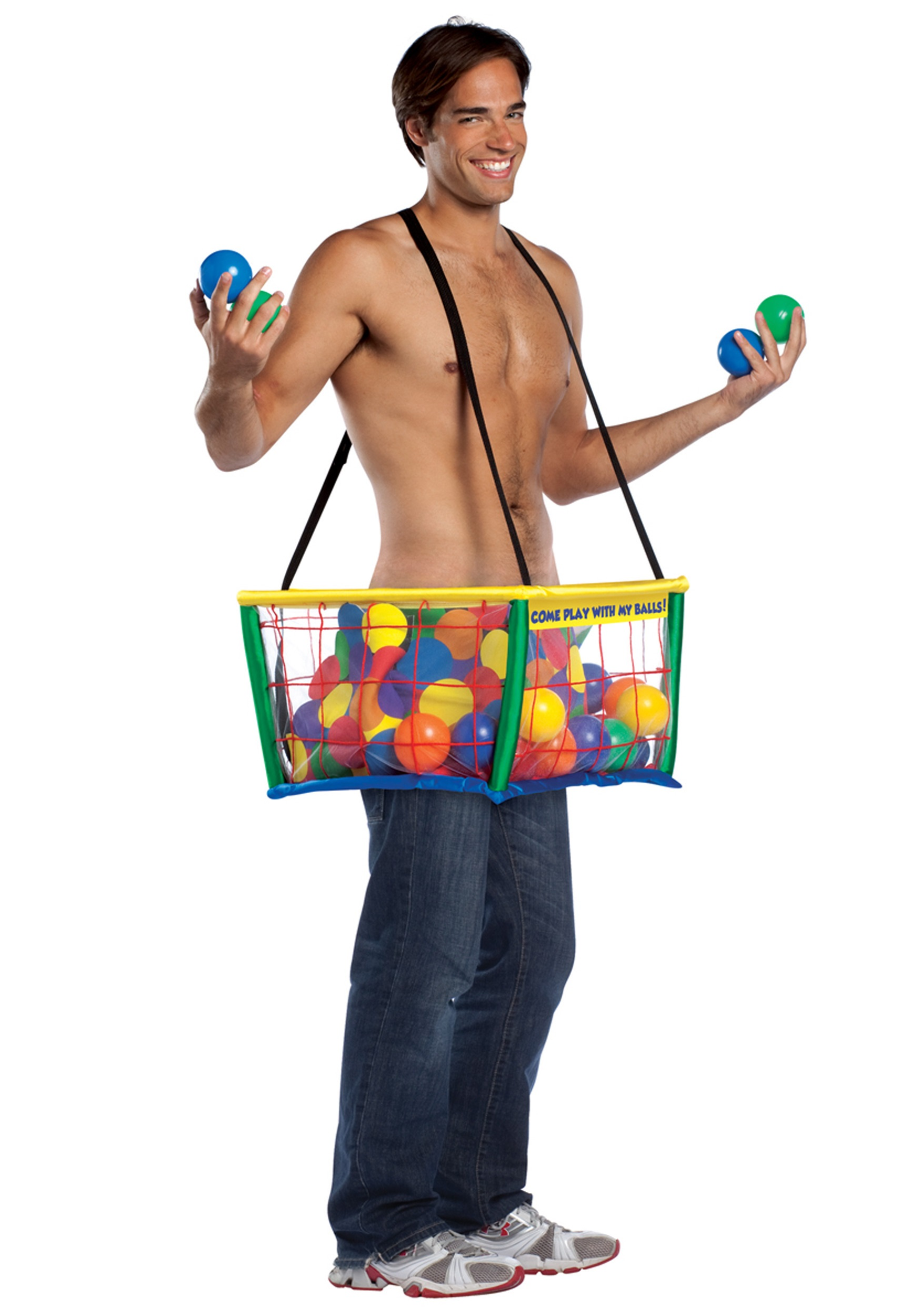 ball and chain costume. ball pit funny costume picture and chain