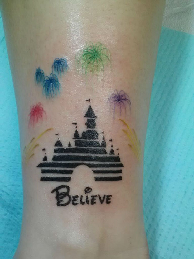 32 cool disney tattoo designs images and pictures for Disney world tattoos