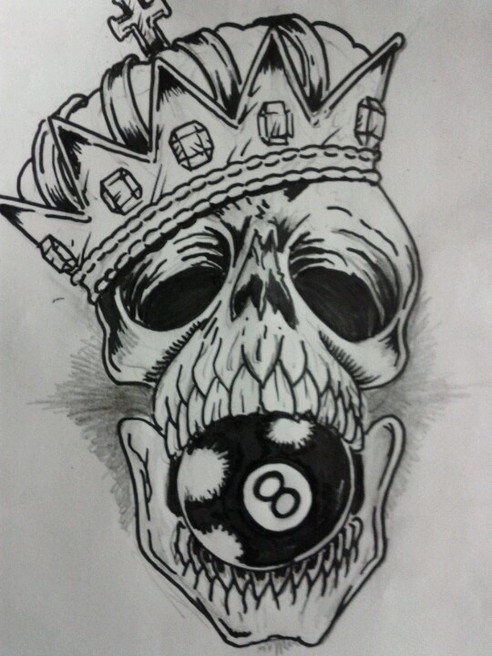12 latest eight ball tattoo designs and ideas for Black ball tattoo