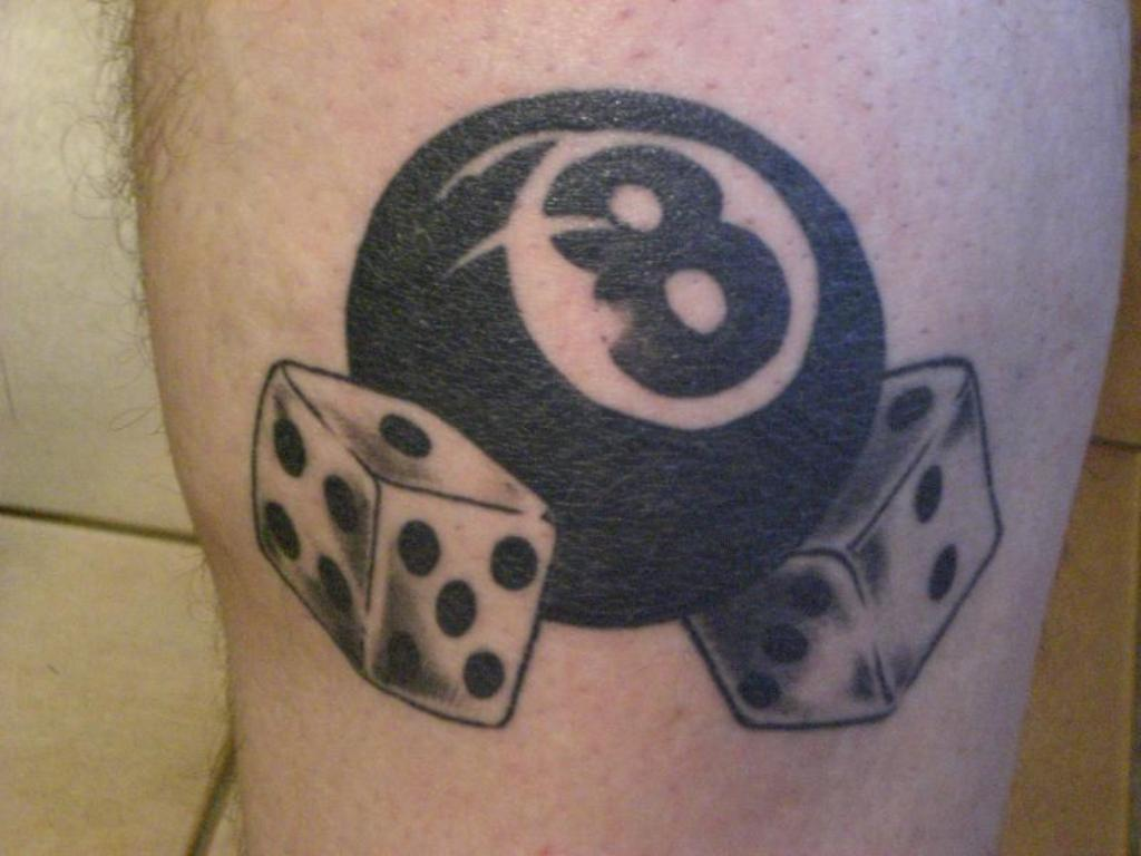 8 ball Tattoo Another simple grey and black dice set dont like the eight balk though See More