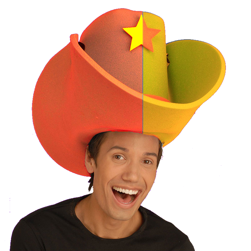 Boy With Giant Cowboy Hat Funny Picture 35a7806f356