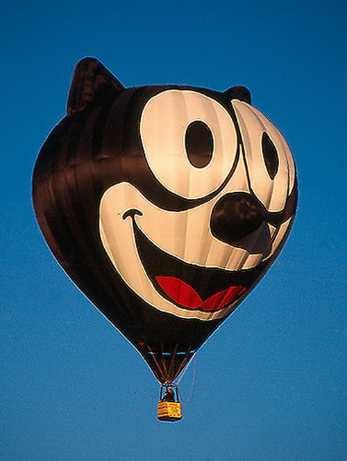 felix cat hot air balloon