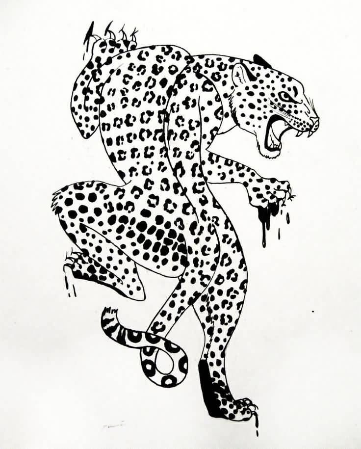 Leopard Tattoos Designs Ideas And Meaning: 14 Leopard Tattoo Designs And Sketches